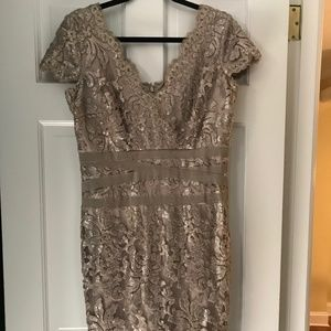 Champagne Colored Sequined Dress
